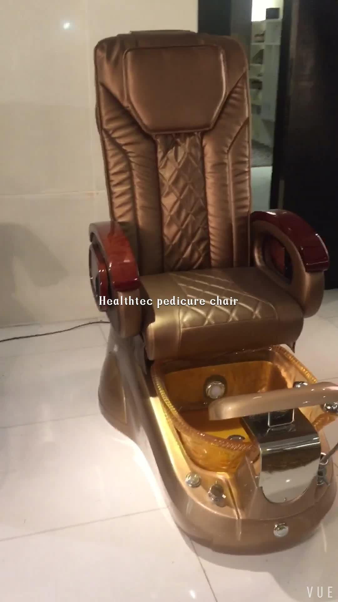 Healthtec nail salon equipment spa massage pedicure chair for Nail salon equipment