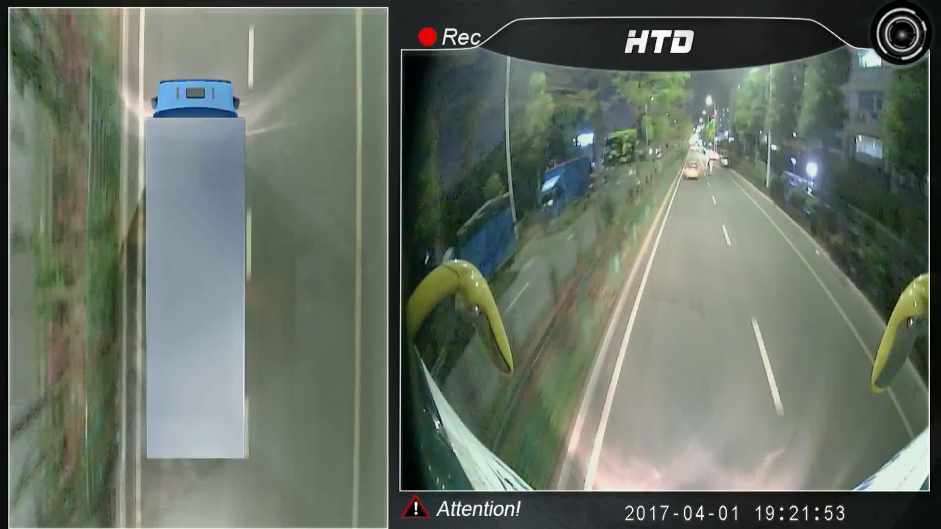 360 Degré 3D Surround View Surveillance Système Vue Aérienne Système de Stationnement pour Bus