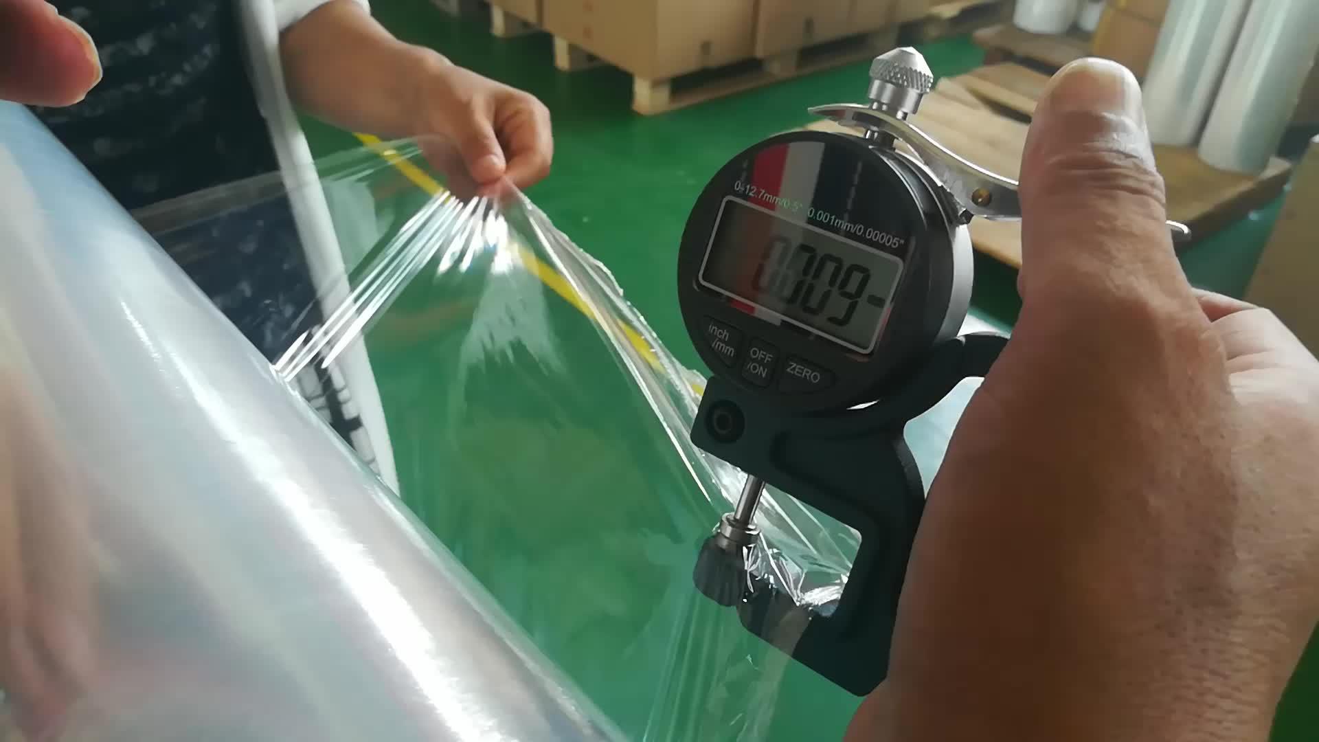 Großhandel fabrik preis stretch film / LDPE handliche verpackung / palette stretch wrap film riesige rolle