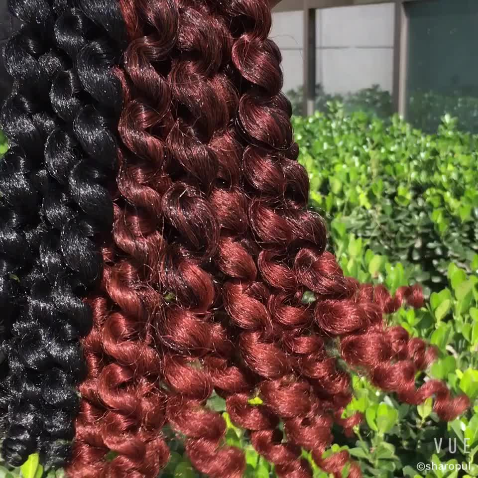 Wholesale 2x Value Afro Bounce Twist Model Wand Curl Crochet Braid Synthetic Hair