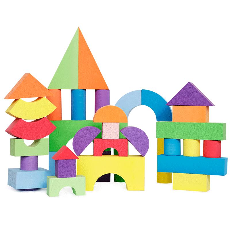 智邦EVA泡沫积木儿童玩具52块