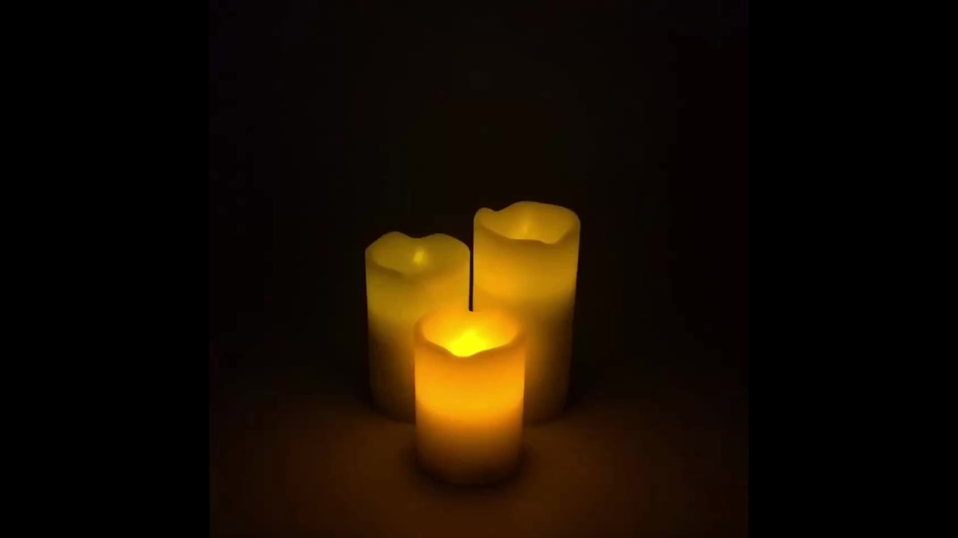 Good Quality Led Christmas Tall Pillar Scented Candles In Bulk With Remote Control