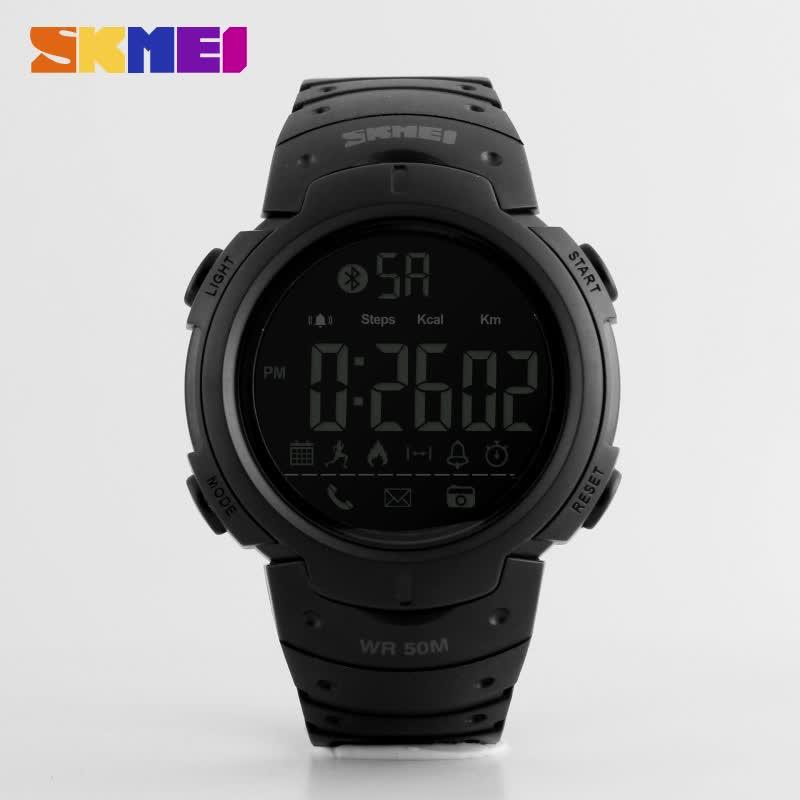 Diseño Popular azul del reloj skmei 1301 La militares multifunción impermeable venta al por mayor reloj inteligente para los hombres