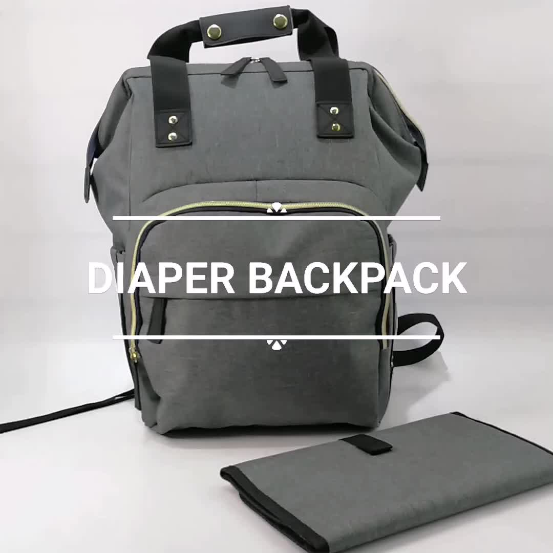 New Waterproof Multifunction Baby Diaper Bag Backpack With Changing Pad Stroller Straps