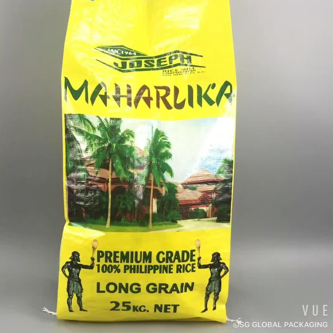 Transparente Verpackung 5kg 10kg 25kg 30kg 50kg Reisbeutelgröße