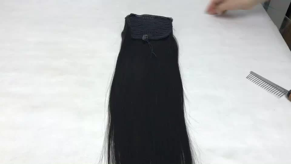 26 inch Brazilian Remy Human Cheap Fusion Hair Extension Ponytail Hairpiece