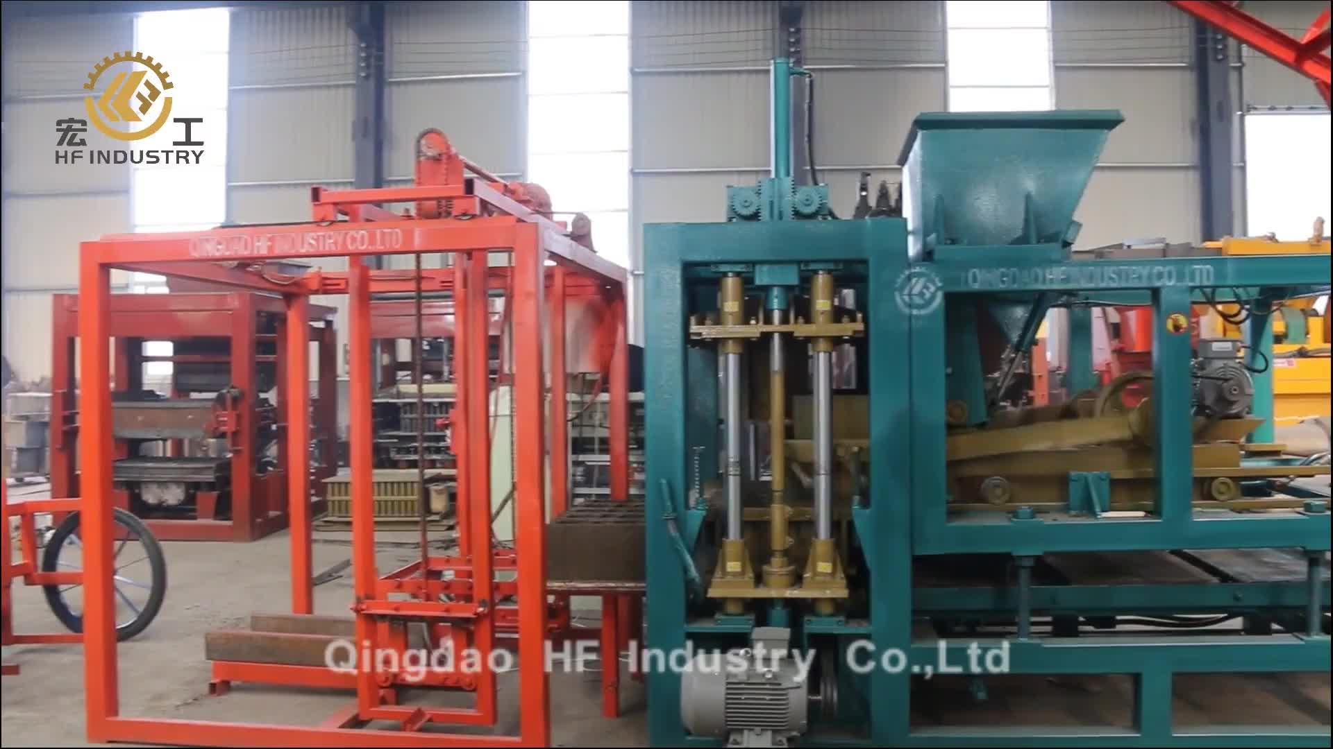 QT4-16 çin tam otomatik hidrolik beton çimento içi boş kilitli parke taşı tuğla blok yapma makinesi satılık