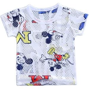 男童短袖夏季冰丝镂空夏装网纱汗衫
