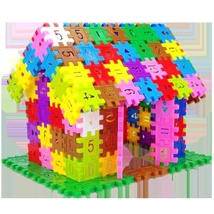 塑料数字拼插男孩4-5-6岁益智积木
