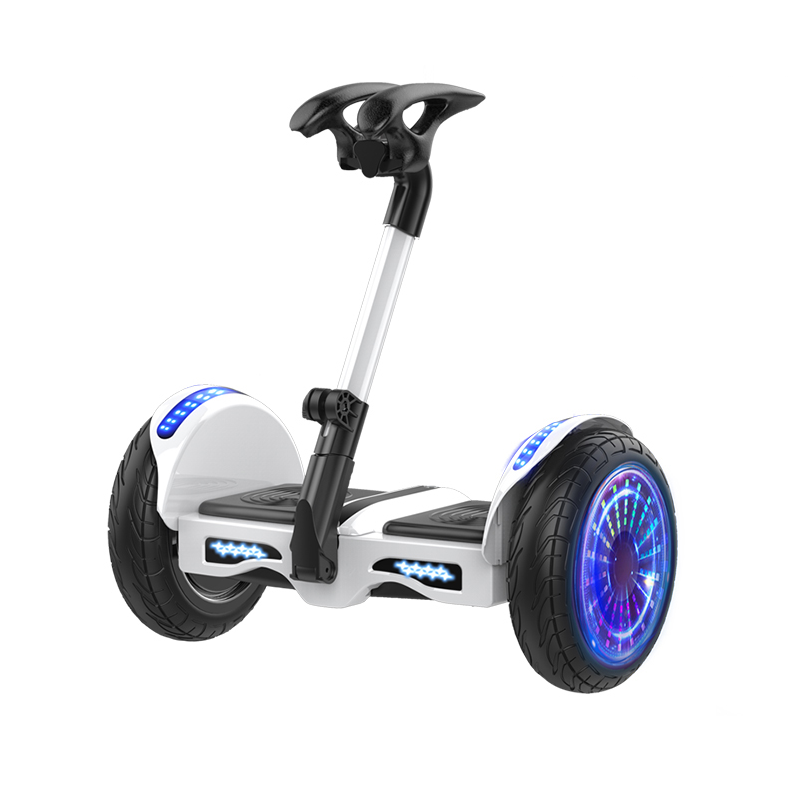 豹行电动带扶杆儿童两轮平衡车