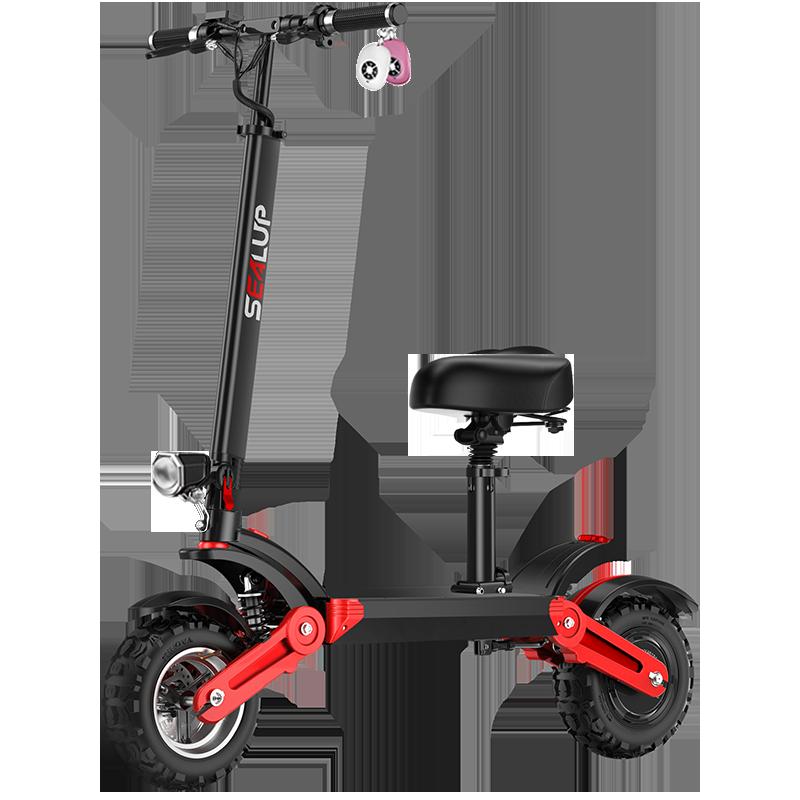 希洛普代步车电动滑板车成人 迷你电动车 12寸越野折叠小型电瓶车