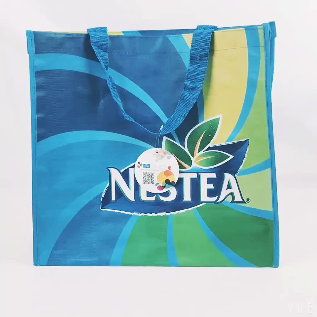 Promotion Shopping Handed PP Woven Fabric Bag