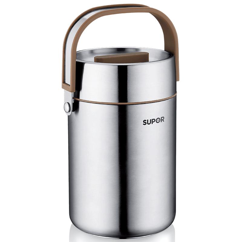 苏泊尔保温饭盒上班族带饭304不锈钢多层1人便携12小时超长保温桶