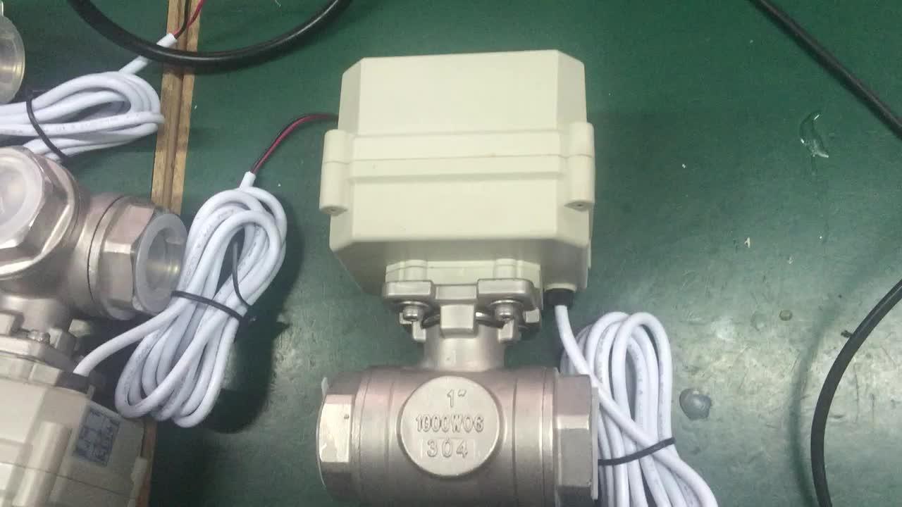 3 way horizontal ss304 electric motor control ball valve