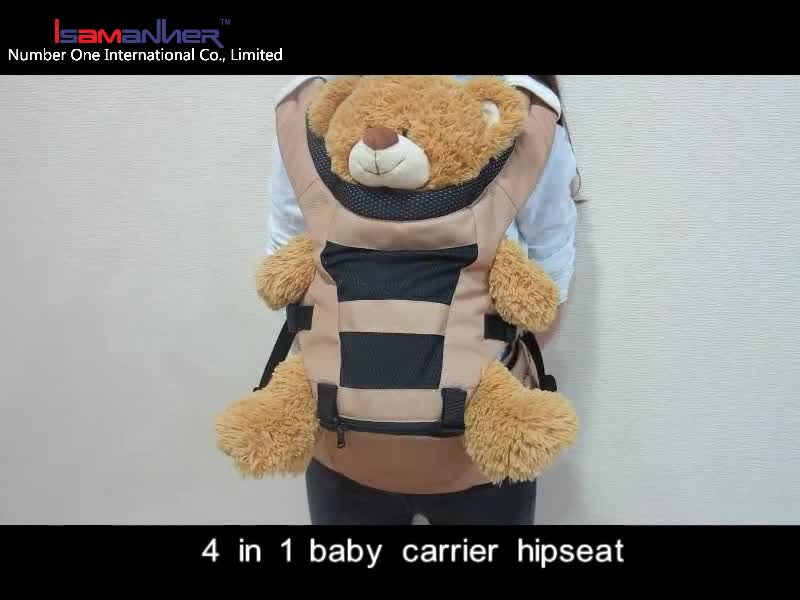 4 in 1 high end durable polyester hipseat backpack baby carrier ergonomic