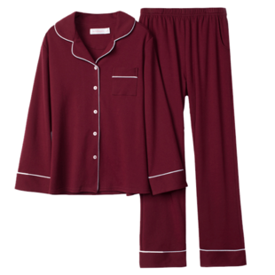 Pajamas female cotton long sleeves trousers 2 suits home furnishing