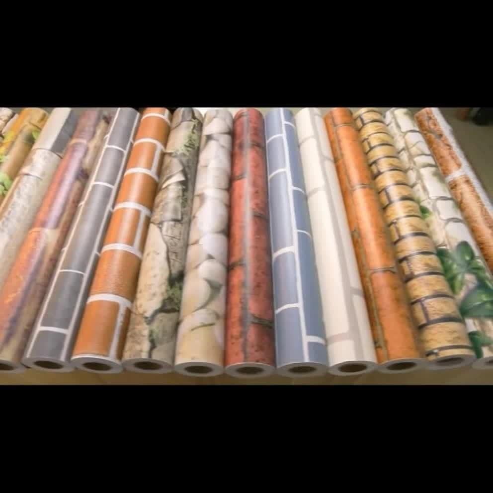 ملصق حائط مقاومة للمياه pvc بسعر المصنع ، تصاميم ورق حائط للمنزل فينيل 3d