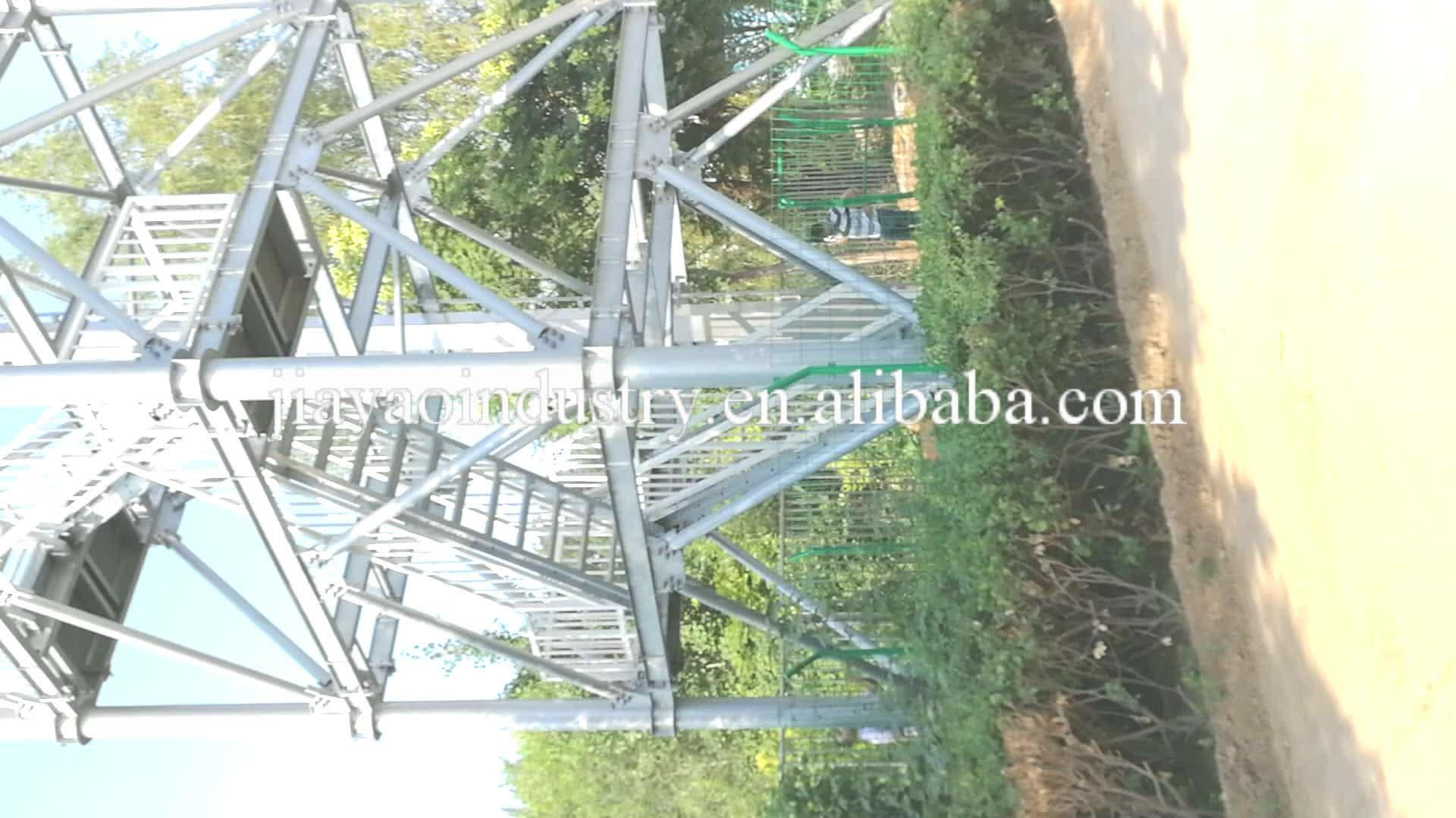 50m जस्ती चार पैर वाले मुक्त खड़े धातु कार्बन सीएनसी स्टील आग गार्ड चीन लुकआउट सुरक्षा टावरों के लिए अवलोकन