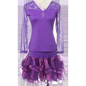 朵俏拉丁舞服女成人秋季跳舞裙子