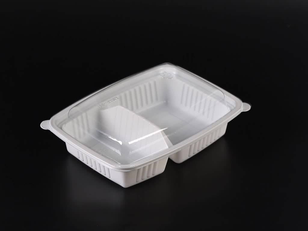 Hoge Kwaliteit Takeaway Bento Box 2 Compartiment Magnetron Voedsel Container