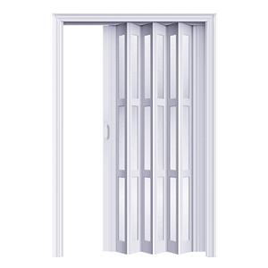 pvc折叠门室内厨房隔断吊轨简易门