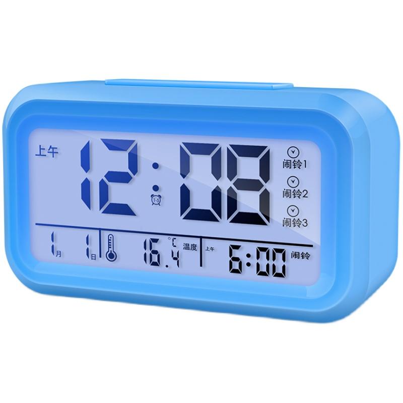 闹钟学生用2021新款智能起床神器桌面儿童男孩小电子表时钟专用女