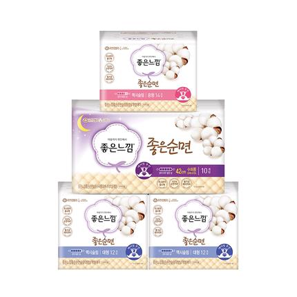 goodfeel天然纯棉网罩韩国48卫生巾