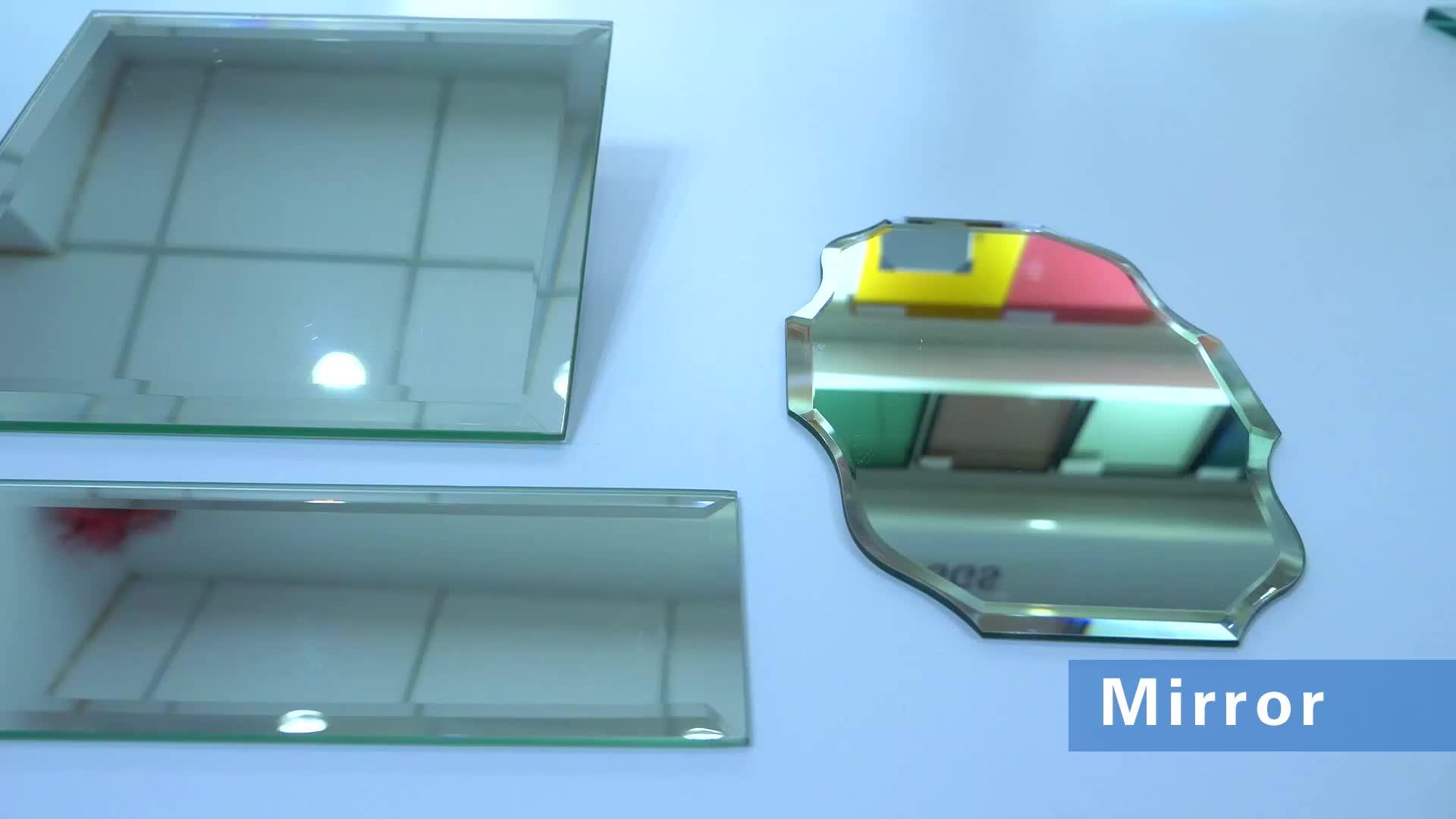 Espelho decorativo redondo home da parede do diodo emissor de luz do projeto moderno grande sem quadro