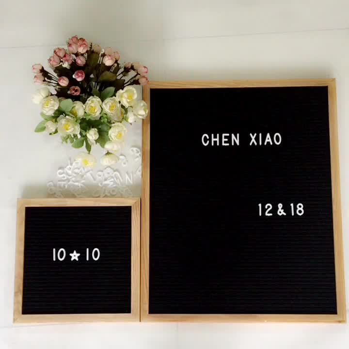 """letter set for felt letterboard (290 pieces) - 3/4"""" and 1"""