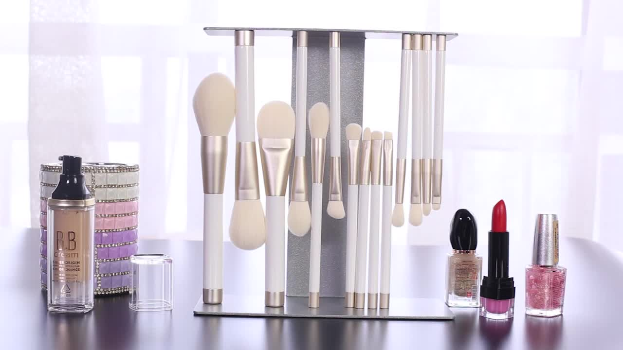 14pcs makeup brushes manufacturers china wooden magnetic