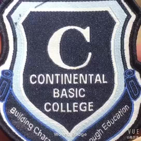 Custom Eco-Friendly Woven Embroidery Badge Logo For Uniform