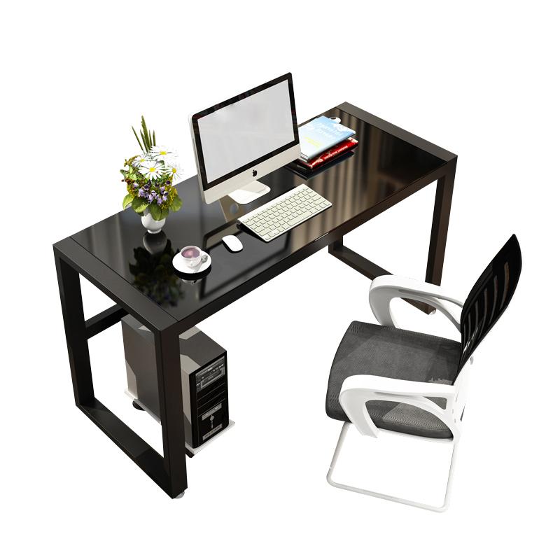 电脑台式简约现代钢化玻璃写字桌好用吗