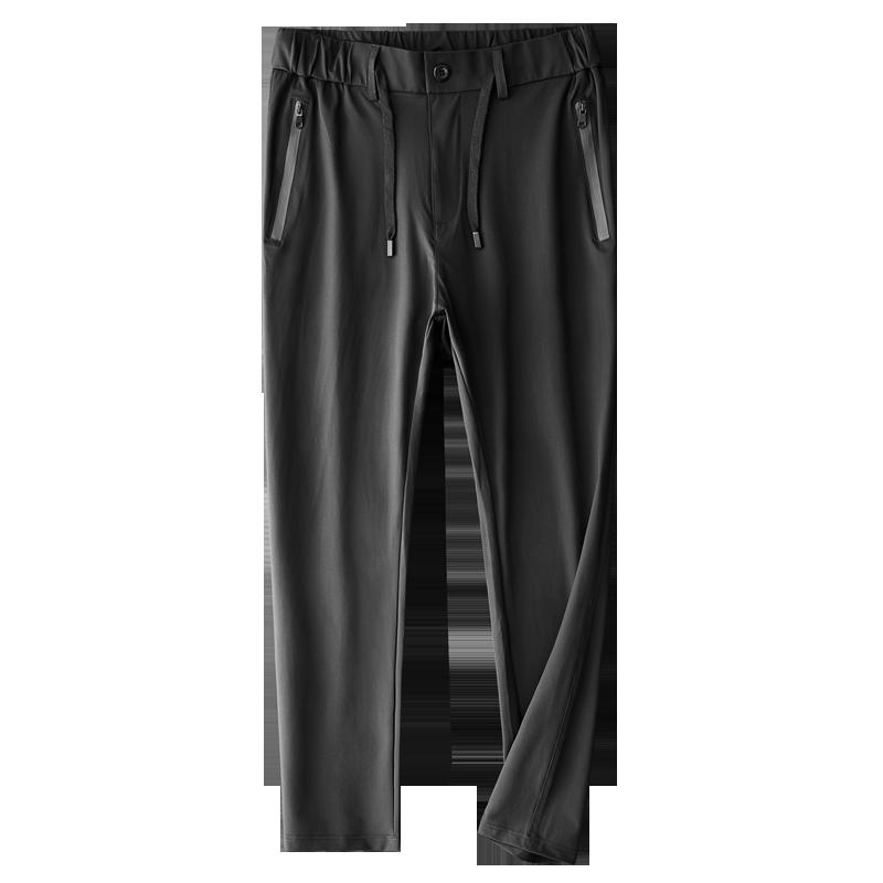 冰丝运动裤男宽松弹力透气薄款裤子
