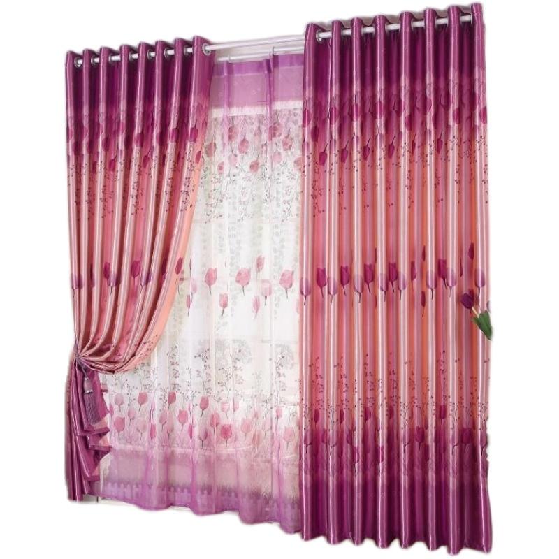 全遮光现代简约欧式婚房窗帘布料怎么样