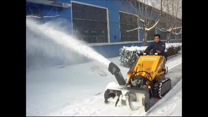Mini Skid Steer Tracked Snow Vehicle Machines For Cleaning
