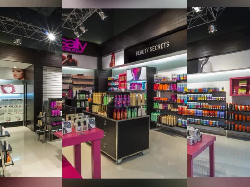 Showroom Retail Store Display Ideas Stand With Lights Cosmetic