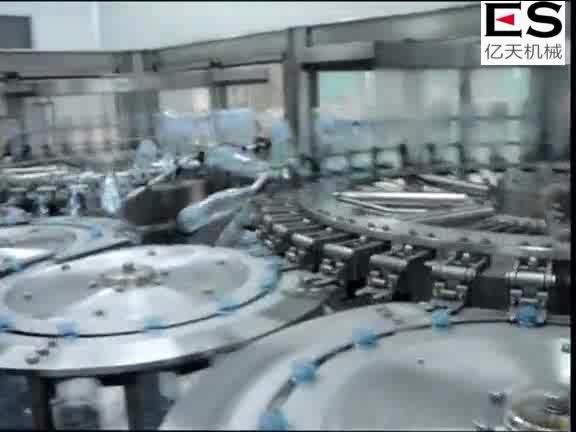 ES-Automatic 3-em-uma máquina de enchimento de água/linha de engarrafamento de água