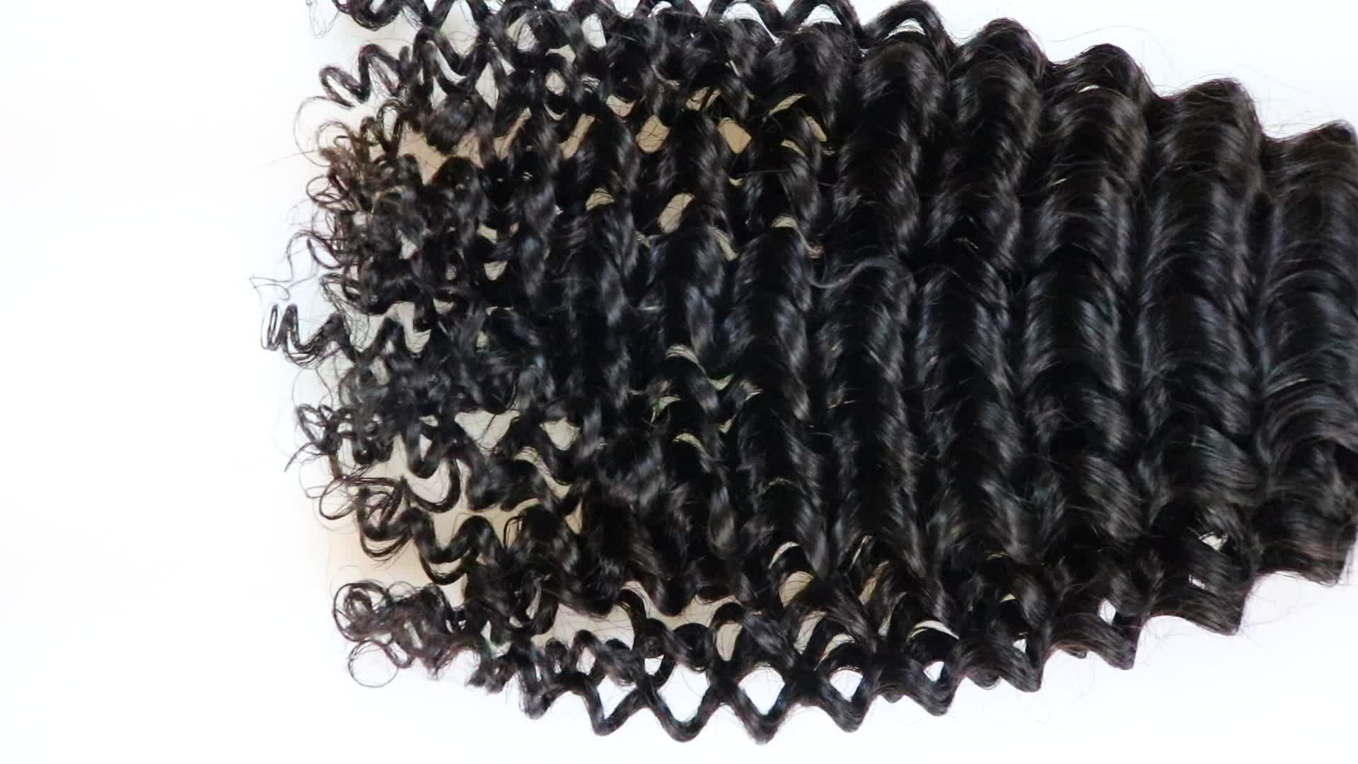 Perfect Deep Wave Bundle With Closurenice Indian Hair Extension In