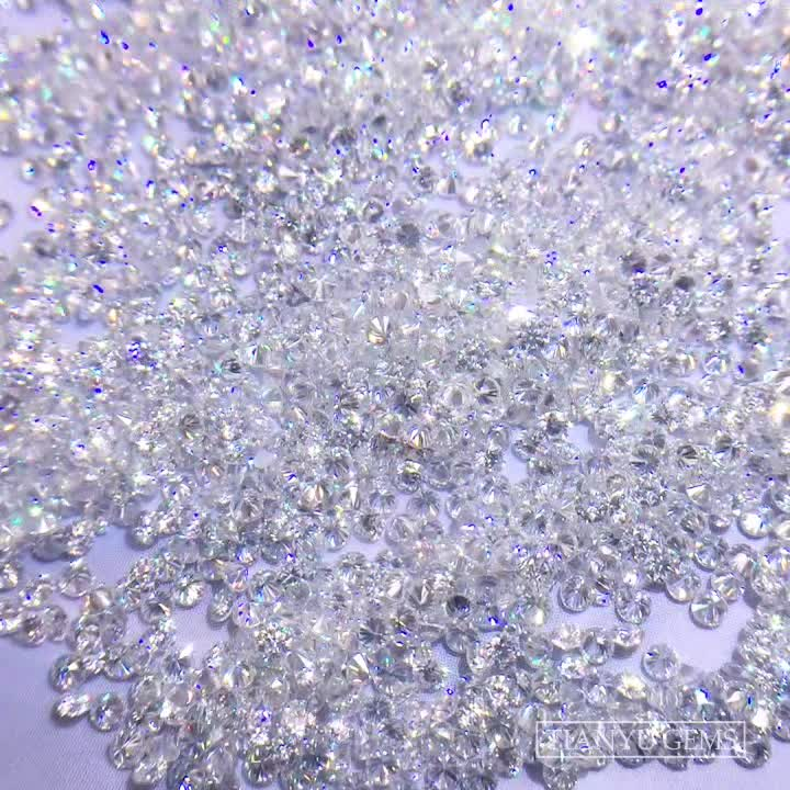 Tianyu Gems Wholesale 1mm /1.5mm/ 2mm DEF melee moissanite  price per carat for jewelry