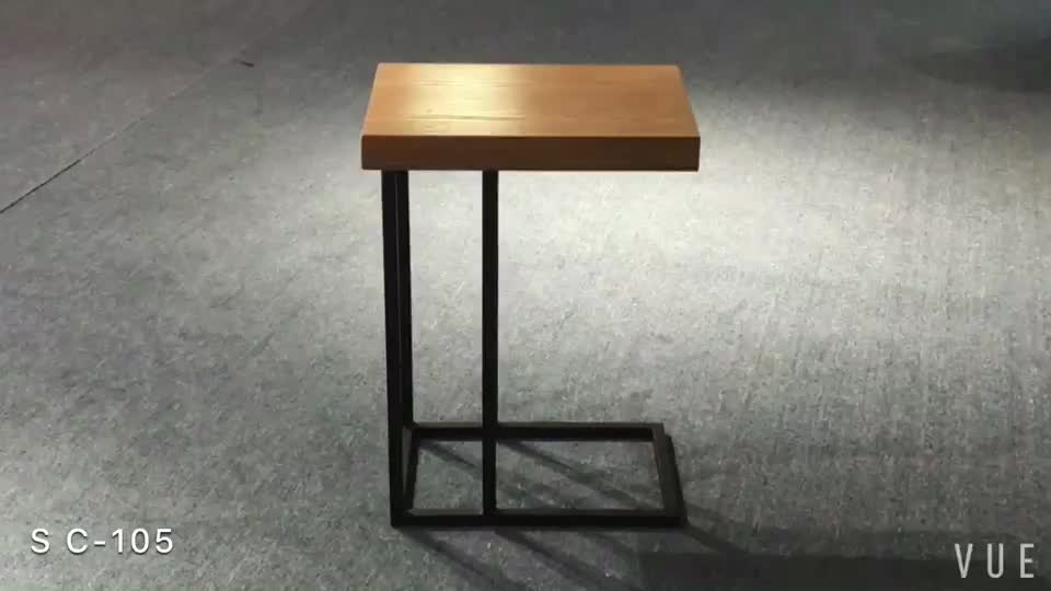 new model modern wood and steel end coffee table