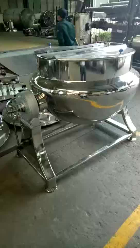 ss304/316Tilting electric or steam Jacket Kettle cooking pot mixer with Agitator