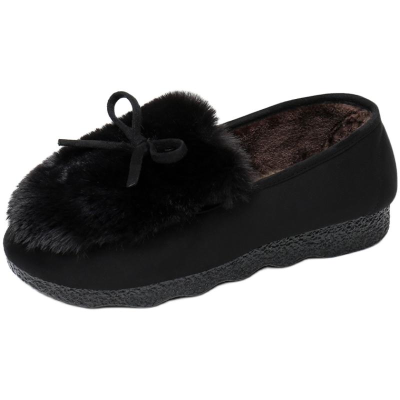 秋冬新款毛毛鞋加绒厚底时尚休闲鞋评价如何