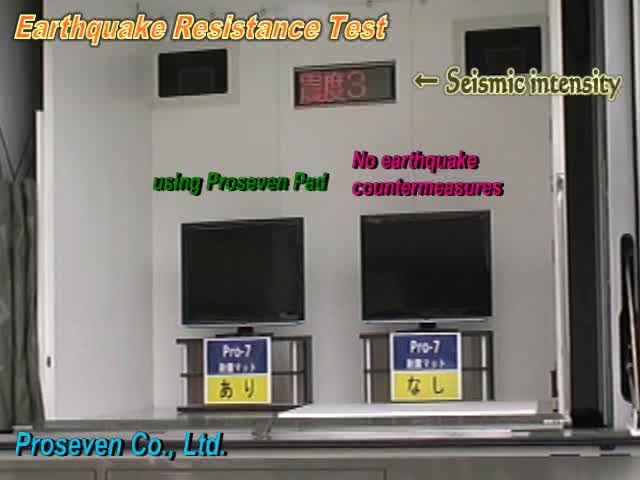 Proseven seismic pads to used in order to protect the led lcd tv from earthquake