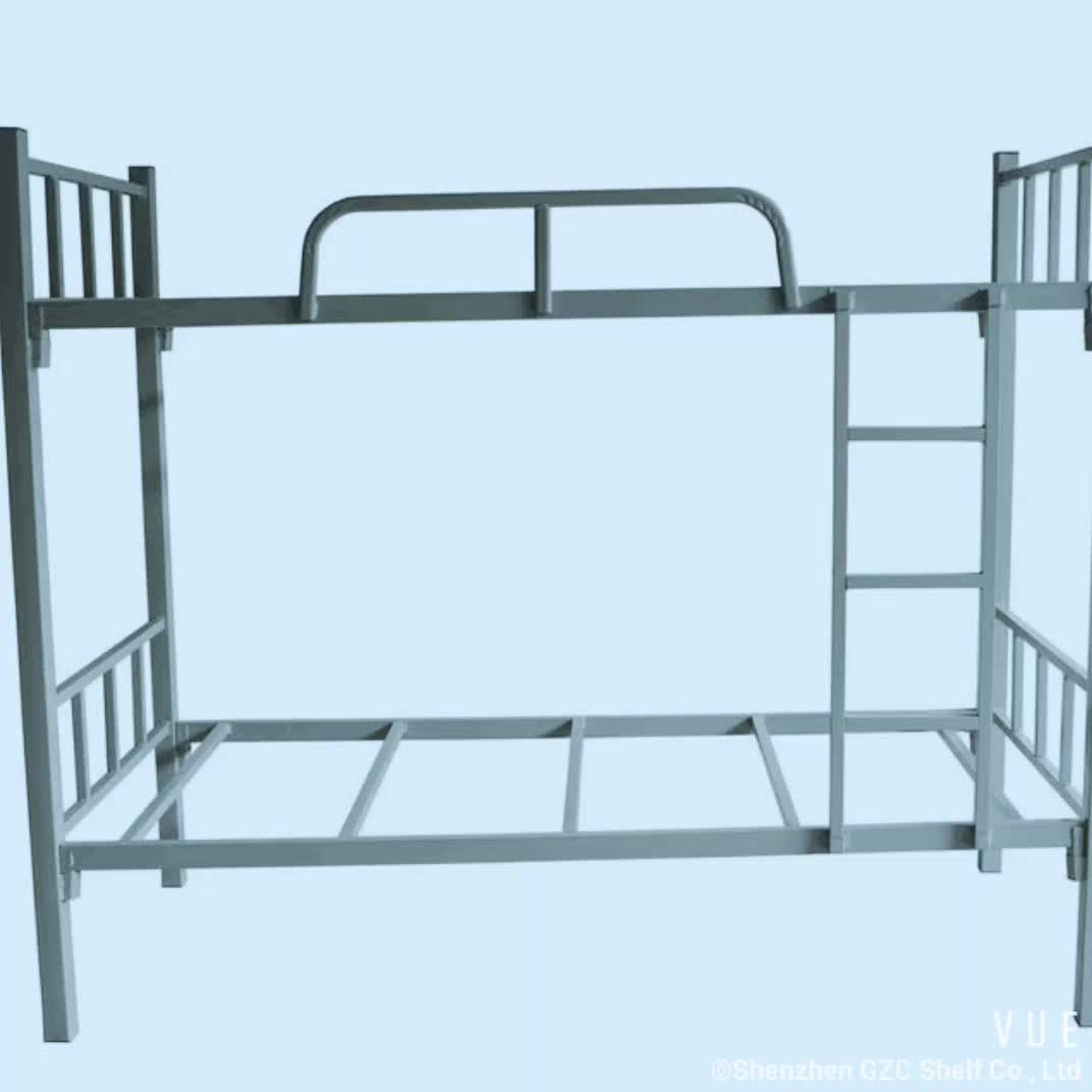 steel dismantle heavy duty metal double bunk bed buy adult metal bunk beds double over double. Black Bedroom Furniture Sets. Home Design Ideas