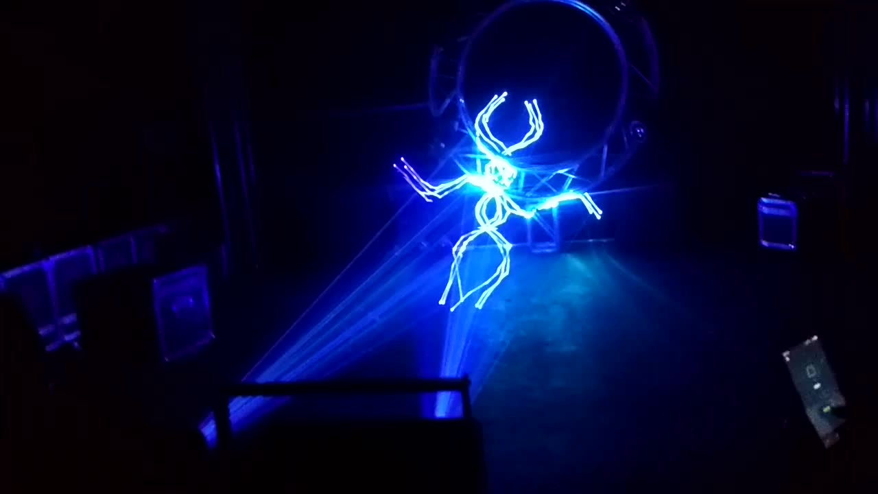 0.75W 1W 3W RGB full color laser projector 3d effect for laser Light show