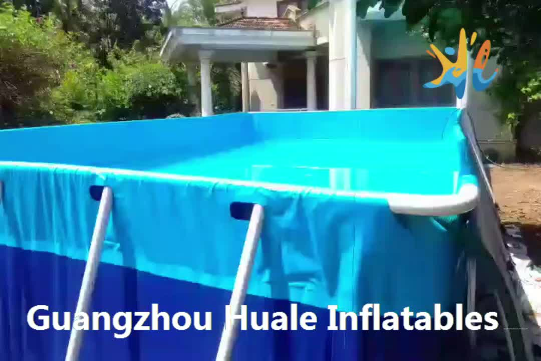 Best Way Popular metal frame pool / frame swimming pool for water park