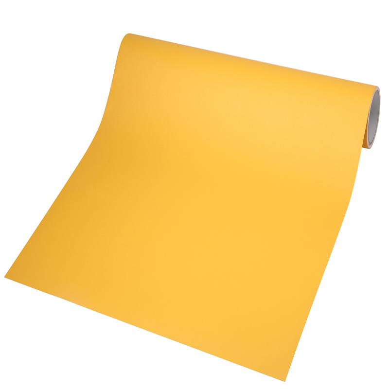 加厚黄色贴纸自粘纯色防水背景墙纸好不好