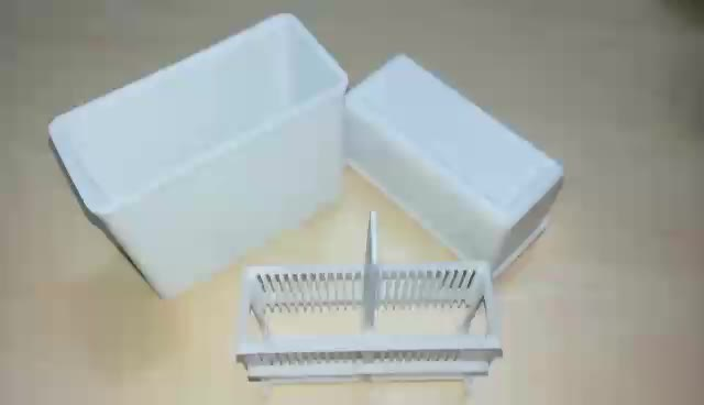 24 Microscope Slide Staining Dish With Rack Plastic