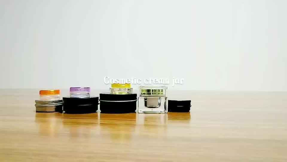 Wholesale cosmetic packaging 5g 10g 15g 20g 30g 50g black white acrylic plastic face cream empty jar