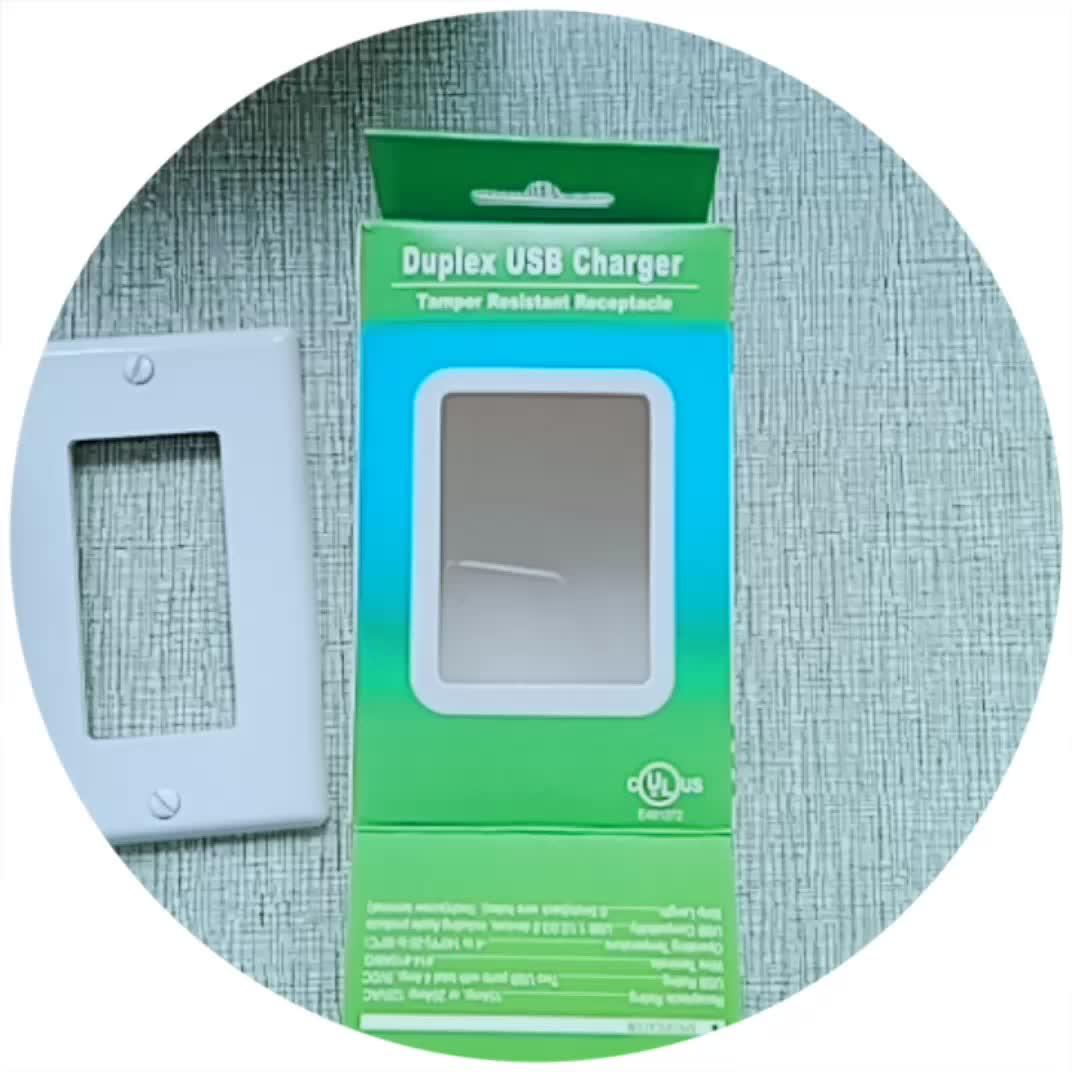 ขายร้อน Barep TR-BAS20-2USB ชุด Wall Outlet กับ USB Charger